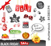 black friday sale set - stock vector