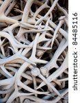 A stack of antlers - stock photo