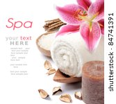 Spa setting in brown tone - stock photo