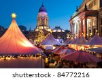 Christmas market in Berlin - stock photo