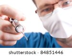 Numbing before dental work - stock photo