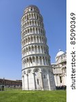 Leaning tower of Pisa in Italy - stock photo