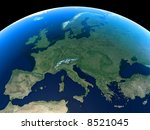 Europe as seen from Space - stock photo