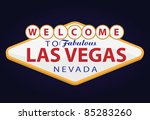 welcome to las vegas - stock vector