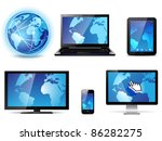 Electronic devices - stock vector