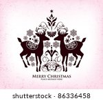 christmas vector design - stock vector