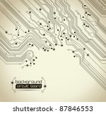 technical background with a circuit board texture - stock vector
