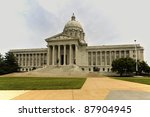 State Capitol of Missouri in Jefferson City. - stock photo