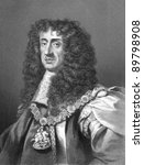 Charles II (1630-1685). Engraved by W.Holl and published in The History of England, United Kingdom, 1859. - stock photo