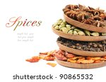 Colorful mix of spices - stock photo