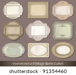 Vector illustration of vintage retro labels - stock vector