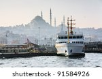 Pier Eminonu in Istanbul, Turkey - stock photo