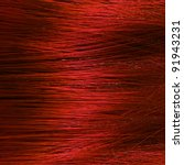 detail of red hair texture - stock photo
