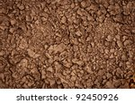 Dry soil closeup before rain - stock photo