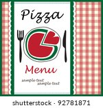 pizza menu - stock vector