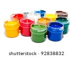 paints isolated on a white background - stock photo