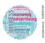 Business and marketing info-text graphics and arrangement concept on white background - stock photo