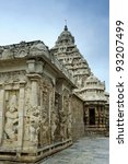 kailasanathar temple in Kanchipuram , Tamil Nadu, India - stock photo