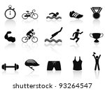 triathlon sport icon - stock vector