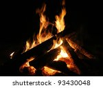 wooden bonfire - stock photo