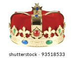 Kings crown on white background, clipping path included - stock photo