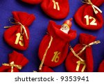 Detail of advent calendar - stock photo