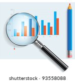 Analyzing graphic - stock vector