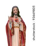 Jesus Sacred Heart Statue - stock photo