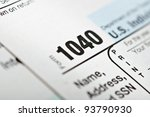 Tax forms 1040. U.S Individual Income Tax Return. - stock photo