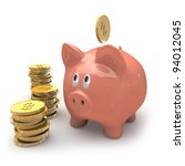 Piggy bank - stock photo