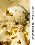 ice cream pistachio - stock photo
