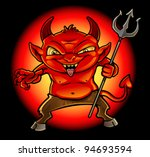 Little Devil - stock vector
