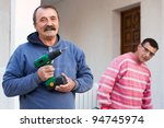 Middle Aged Construction Workers - stock photo