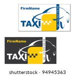 visiting card taxi driver, vector - stock vector