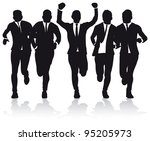 business people running - stock vector