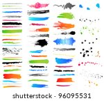 Collection of grunge colorful elements. Vector - stock vector