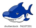 Grinning Shark - stock photo