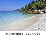 Beautiful beach in Zante island, Greece - stock photo