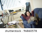 Business lady taking a rest - stock photo