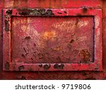 Old rusty metal frame - stock photo