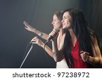 Female singers performing - stock photo