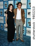 Angelina Jolie and Brad Pitt at the 2008 Film Independent Spirit Awards at Santa Monica Beach, Santa Monica, California - stock photo