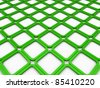 3d cube green square background abstract white - stock photo
