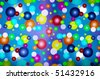 abstract color bubbles - stock photo