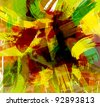 abstract paint splashes illustration. - stock photo