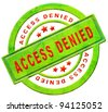access denied closed - stock photo