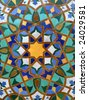 Arabic Tile Background in the Hassan II Mosque in Casablanca, Morocco - stock photo