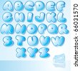 Artistic Ice Water Font for your christmas design - stock photo