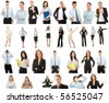 Business people collection, isolated on white background - stock photo