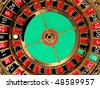 Casino roulette wheel top view. 3D - stock photo